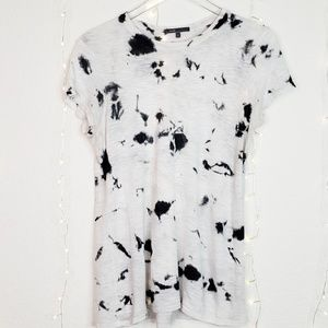 Vince | Grey and Black Tie Dye Tee Shirt Size L